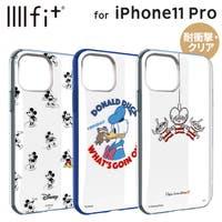 ディズニー iPhone11 Pro 耐衝撃ケース ミッキーマウス/ドナルドダック/エイリアン IIIIfit クリアハイブリッドケース ストラップホール付き かわいい キャラクター グッズ グルマンディーズDN-652A/DN-652B/DN-652C