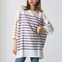 クレイジーボーダービッグTシャツ / Alluge / 663-8916