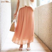 and Me(アンドミー)のスカート/プリーツスカート
