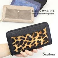 epic エピック | 【切替ポケット長財布】【ra190547】切り替えポケット合皮長財布!バイカラーの外ポケットがかわいい合皮長財布。