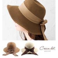 CREAM-DOT(クリームドット)の帽子/麦わら帽子・ストローハット・カンカン帽