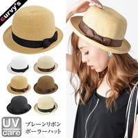 curvy's (カービーズ)の帽子/麦わら帽子・ストローハット・カンカン帽