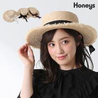 Honeys(ハニーズ)の帽子/麦わら帽子・ストローハット・カンカン帽