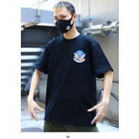 本格派大人のB系    Tシャツ【ZR-MK-CO-013-JT-TS-TS-005】防衛省自衛隊グッズ ブルーインパルス マスク Tシャツ セットアップ 半袖 無地 シンプル ワンポイント メンズ レディース 男女兼用 黒 S M L XL 2L LL 2XL 3L XXL 大きいサイズ 服 マスク付き ギフト