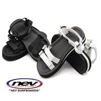 靴のニシムラ   サンダル レディース 靴 スポーツ 黒 白 ブラック ホワイト 軽量 軽い ベルクロ 厚底 クッション 疲れない NEV 29
