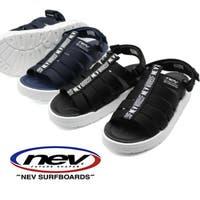 靴のニシムラ   サンダル レディース 靴 スポーツ 黒 ブラック ネイビー ベルクロ 屈曲性 軽い 軽量 クッション NEV nev-28