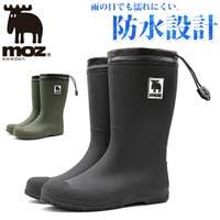 靴のニシムラ | レインブーツ レディース 靴 黒 ブラック カーキ 長靴 シンプル モズ 北欧 防水 おしゃれ moz MZ-8316