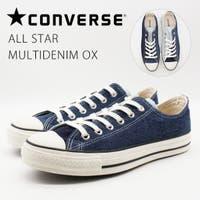 靴のニシムラ | コンバース レディース メンズ スニーカー 靴 アシンメトリー レトロ ブルー 青 デニム オールスター マルチデニム CONVERSE ALL STAR MULTIDENIM OX