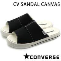 靴のニシムラ | コンバース オールスター サンダル レディース メンズ フラット ブラック 黒 軽量 軽い CONVERSE CV SANDAL CANVAS