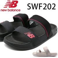 靴のニシムラ | ニューバランス サンダル レディース 靴 黒 ブラック シャワーサンダル スポーツサンダル 2way 軽量 軽い 人気 ブランド おしゃれ ベルト New Balance SWF202