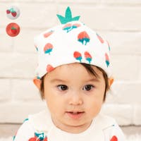 K k コドモノモリイーショップ こどものもりいーしょっぷ  | 【子供服・ベビー服】 moujonjon (ムージョンジョン) イチゴ帽子・キャップ 女の子  46cm M15801