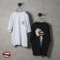 REGIEVO | なみおくん×マーガレットプリントビッグシルエットTシャツ