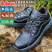 ShoeSquare | Bobson ボブソン ブーツメンズ トレッキングシューズ 登山靴 アウトドア 防水 スニーカー レインブーツ 屈曲 防滑ウォーキング コンフォート 靴 メンズシューズ