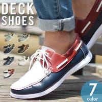 ShoeSquare | デッキシューズ ドライビングシューズ スニーカー 靴 メンズ カジュアルシューズ ローカット PUレザー スムース スウェットシューレース メンズシューズ