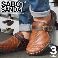 ShoeSquare | サボサンダル メッシュ メンズサンダル スリッポン クロッグ 通気性 軽量 靴 メンズシューズ 編み込み サボ キャンバス ベルトシューズ 衝撃吸収