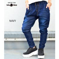 babyshoop  | B系 レディース ファッション ストリート おしゃれ ボトム ジョガー デニム ジーンズ ダンス デニムジョガーパンツ6580