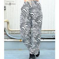 babyshoop  | B系 レディース ファッション ストリート ダンス ボトム パンツ ゼブラ アニマル 海外ファッション カジュアル ゼブラ柄ロングパンツ6680