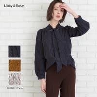 Libby&Rose   小紋柄ボウタイブラウス