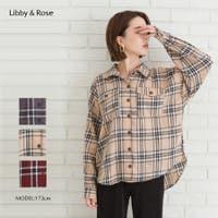 Libby&Rose   タータンチェックBIGシャツ