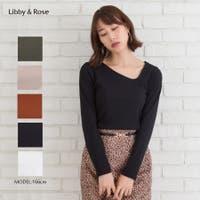 Libby&Rose   テレコアシメロングスリーブTシャツ