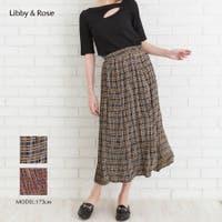 Libby&Rose   幾何学チェックプリーツスカート