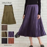 Libby&Rose   ベロアプリーツスカート