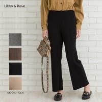 Libby&Rose   リブニットワイドパンツ