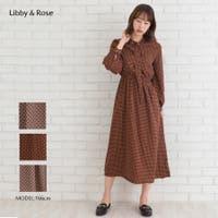 Libby&Rose   小紋柄タイ付2WAYワンピース