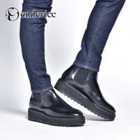 SVEC | ブーツ メンズ ショートブーツ サイドゴア 厚底 ELB772-1