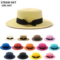 CLARAH(クララ)の帽子/麦わら帽子・ストローハット・カンカン帽