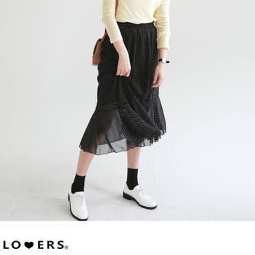 春新作 ドット柄シフォンスカート ma