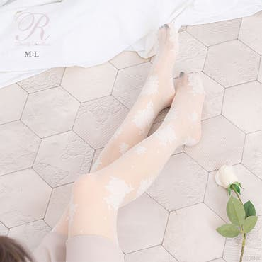 Rose柄タイツ 韓国 オルチャン 夢展望
