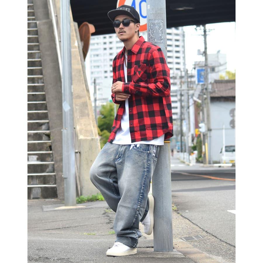 DOP 【ディーオーピー】デニムパンツ 極太 バギーパンツ ボトムスジーンズ B系 ファッション メンズ 大きいサイズ ヒップホップストリート系 10