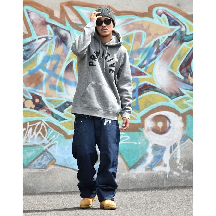 DOP 【ディーオーピー】デニムパンツ 極太 バギーパンツ ボトムスジーンズ B系 ファッション メンズ 大きいサイズ ヒップホップストリート系 5