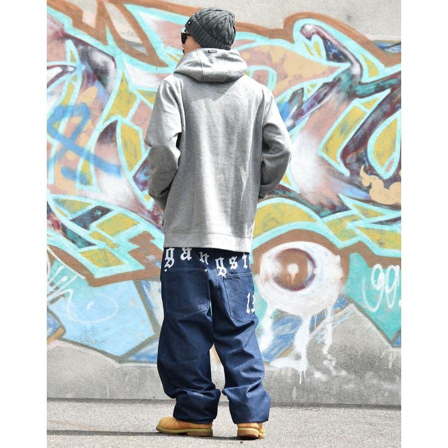 DOP 【ディーオーピー】デニムパンツ 極太 バギーパンツ ボトムスジーンズ B系 ファッション メンズ 大きいサイズ ヒップホップストリート系 6