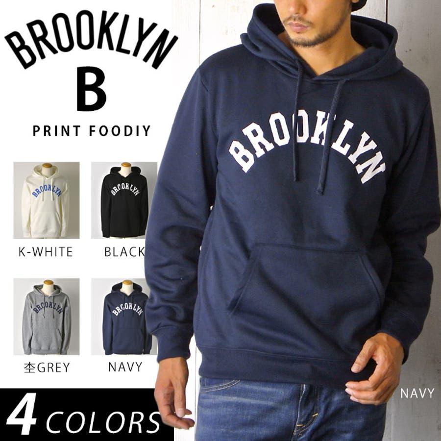とても着やすいので気に入っています メンズファッション通販アメカジ パーカー メンズ ブルックリン ロゴ パーカー メンズ at-t215595-u 合法