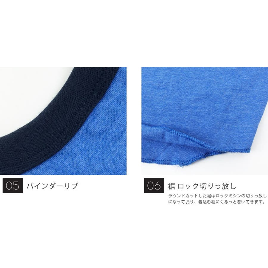 American Apparel アメリカンアパレル 七分袖 ラグラン Tシャツ メンズ カットソー アメアパ 無地 3/4 半端袖ベースボールTシャツ アンダーシャツ ラグラン袖 ロンT aa-tb453 7