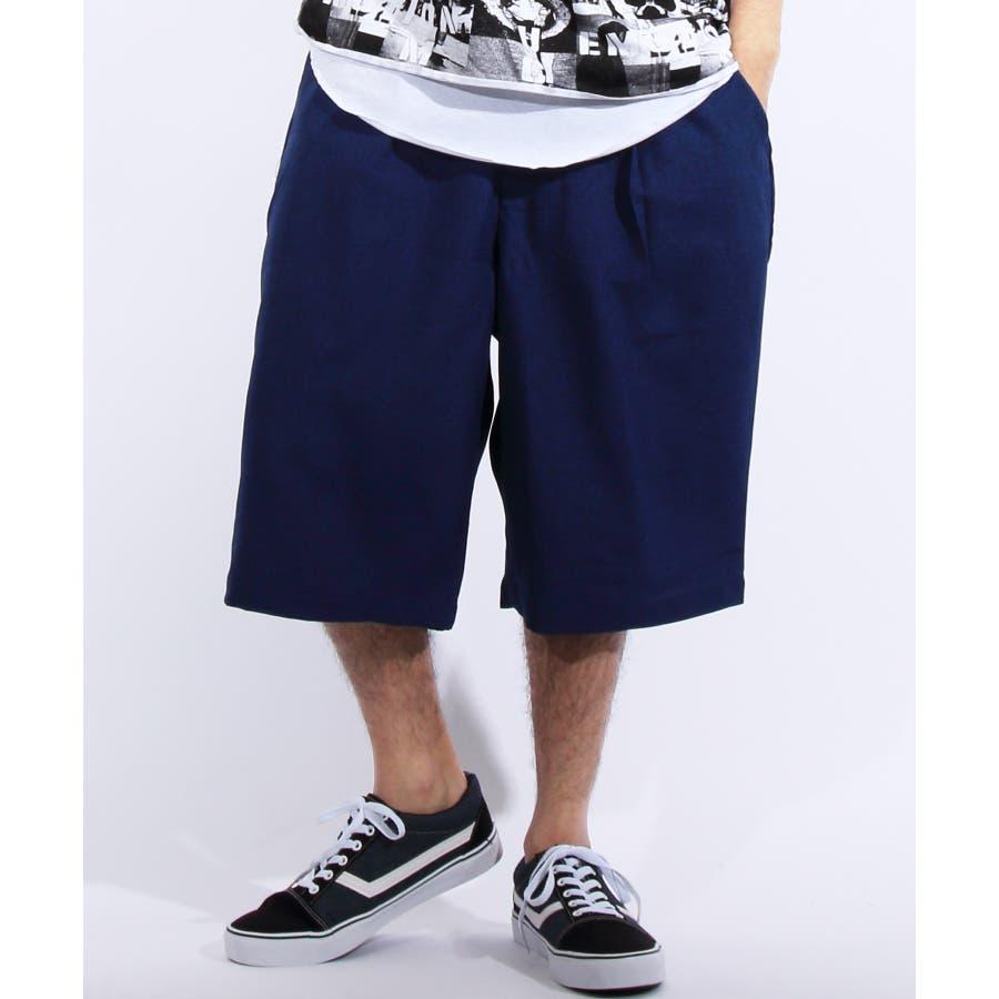 ショートパンツ メンズ 短パン ハーフパンツ全5色 新作 ショートパンツポリトロ 膝上 ショーパンネイビー ブラック ブルー M LLL8(eight) エイト 8 64