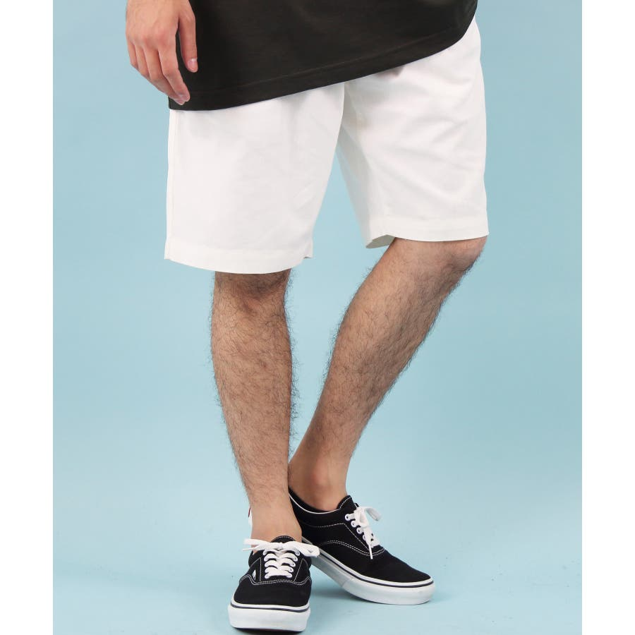 ショートパンツ メンズ 短パン ハーフパンツ全5色 新作 ショートパンツリネン 麻 コットン 膝上 ショーパンホワイト ブラックネイビー M L LL8(eight) エイト 8 16