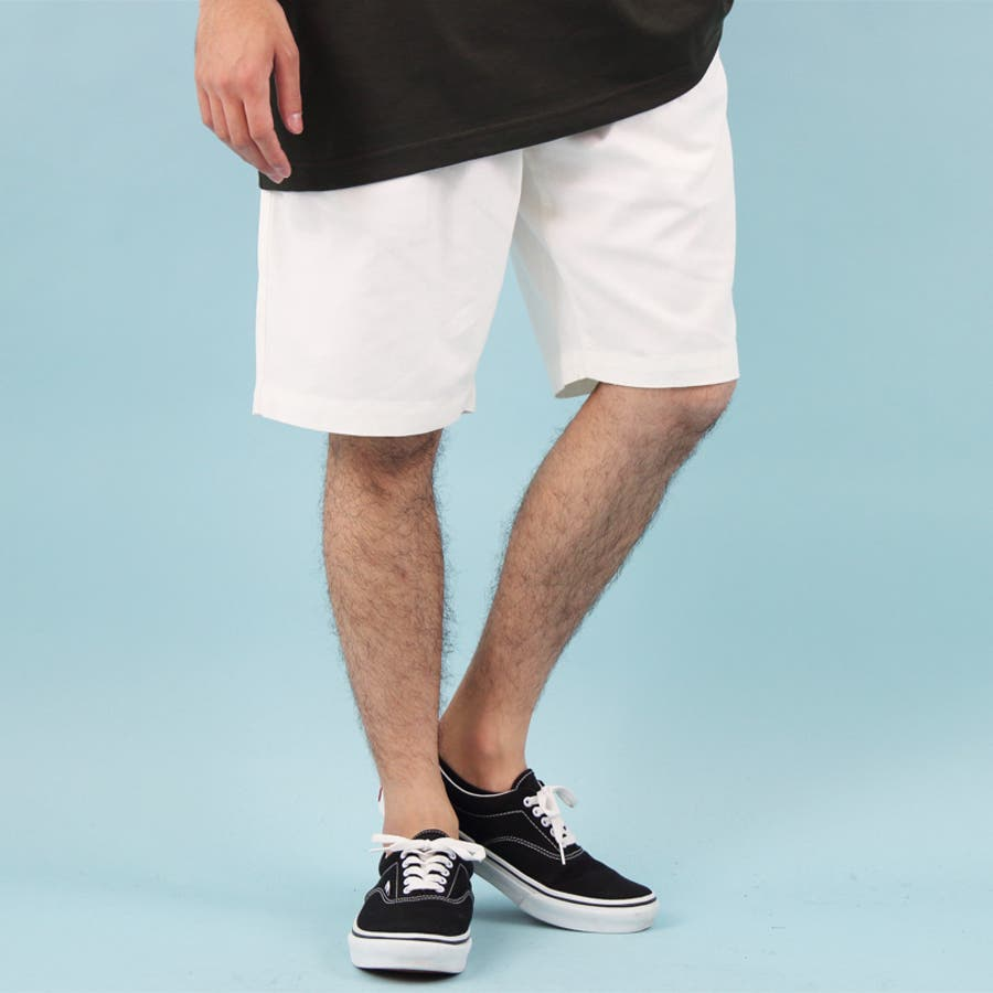 ショートパンツ メンズ 短パン ハーフパンツ全5色 新作 ショートパンツリネン 麻 コットン 膝上 ショーパンホワイト ブラックネイビー M L LL8(eight) エイト 8 3