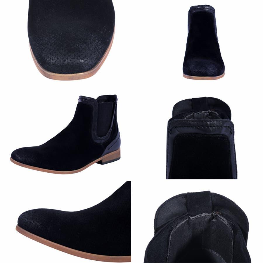 0a5dde15a5736b サイドゴアブーツ メンズ レザー 革全2色 新作 ブーツプレーン レザー ...