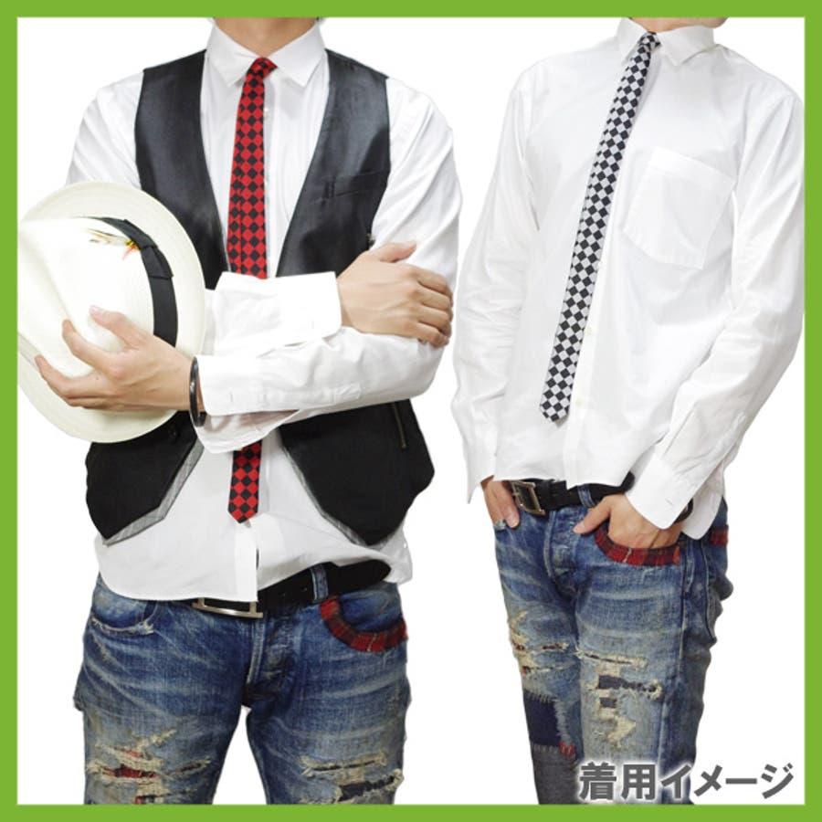 細ネクタイ 全5色★ ナロータイ スリムタイ 細い ネクタイ でお洒落に大変身!! 4