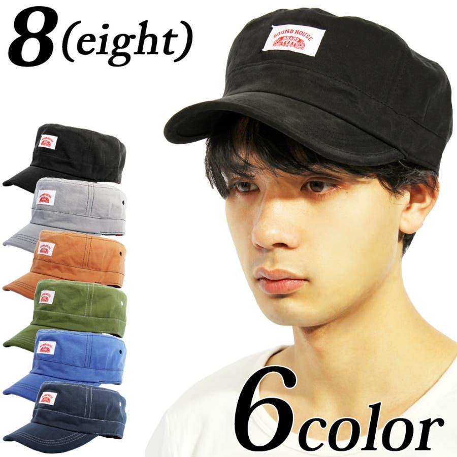 キャップ メンズ 帽子 コットン全6色Ronud House ワーク キャップ コットンベースボール キャップ ブラック