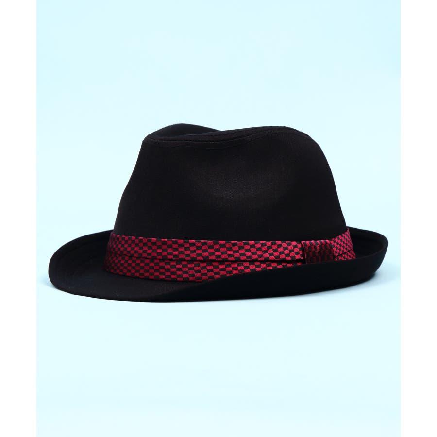 ハット メンズ レディース ハット 帽子全5色 新作 ハットシンプル 中折れ ハット コットンブラック チェック レディースにも大人気!!ビッグサイズ 8(eight) エイト 8 98