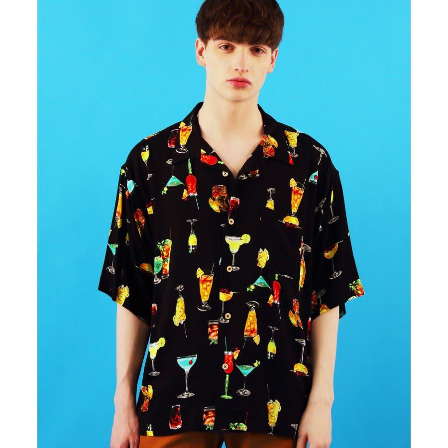 アロハシャツ メンズ ビッグシャツ<br>全7色 新作 シャツ <br> 花柄 半袖 プリント リゾート 白 アロハシャツ<br> ホワイト アロハ ビッグシャツ M L LL<br> アメカジ ストリート 海 夏に♪ 8(eight) エイト 8 <BR> 21