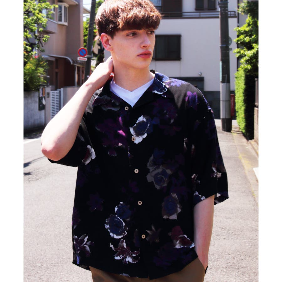 アロハシャツ メンズ ビッグシャツ<br>全7色 新作 シャツ <br> 花柄 半袖 プリント リゾート 白 アロハシャツ<br> ホワイト アロハ ビッグシャツ M L LL<br> アメカジ ストリート 海 夏に♪ 8(eight) エイト 8 <BR> 59