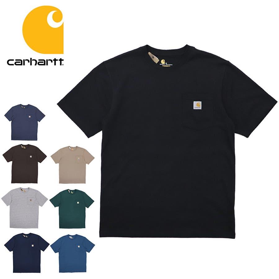 カーハート Tシャツ メンズ Carhartt K87 ヘビーウェイト ポケット付き 無地 半袖 トップス ファッション ブランド大きいサイズ 1