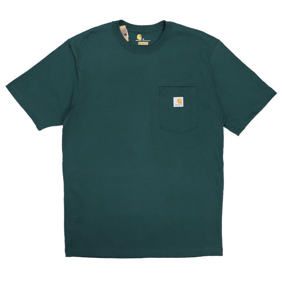 カーハート Tシャツ メンズ Carhartt K87 ヘビーウェイト ポケット付き 無地 半袖 トップス ファッション ブランド大きいサイズ 49