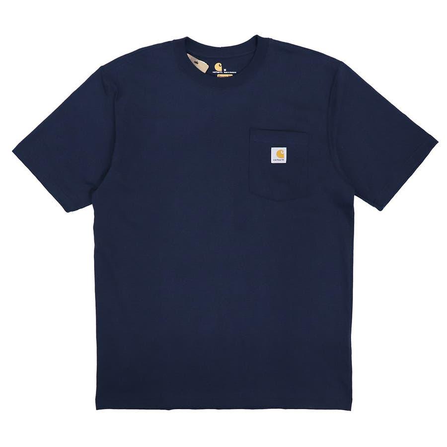 カーハート Tシャツ メンズ Carhartt K87 ヘビーウェイト ポケット付き 無地 半袖 トップス ファッション ブランド大きいサイズ 64