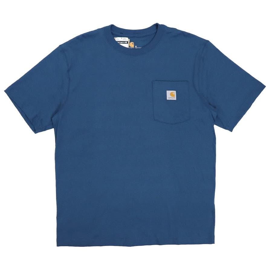 カーハート Tシャツ メンズ Carhartt K87 ヘビーウェイト ポケット付き 無地 半袖 トップス ファッション ブランド大きいサイズ 62